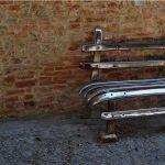 ławka z materiałów z recyklingu